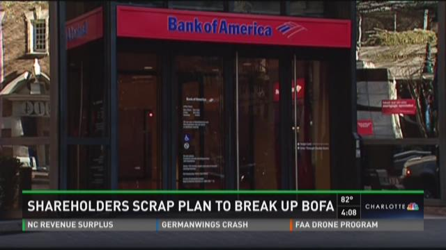 Shareholders scrap plan to break up BofA