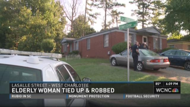 Elderly woman tied up and robbed