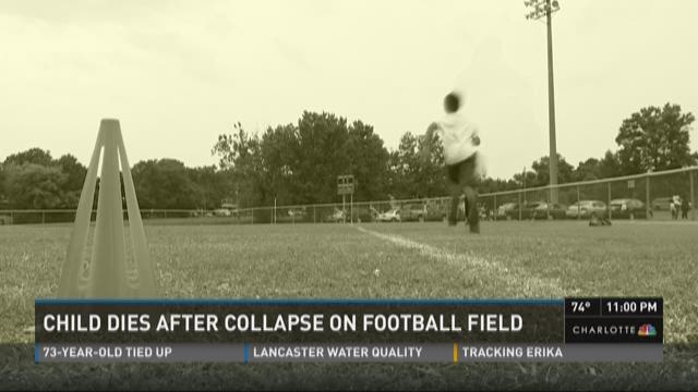 Child dies after collapse on field