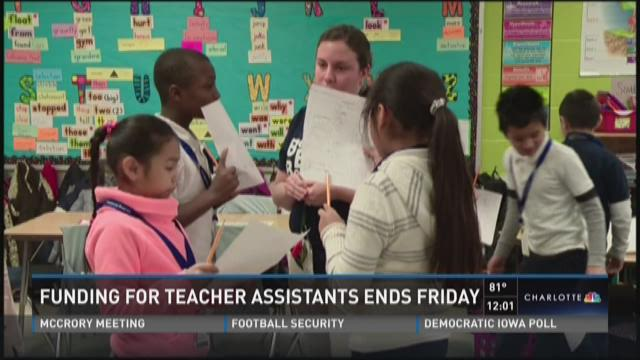 Funding for teacher assistants ends Friday