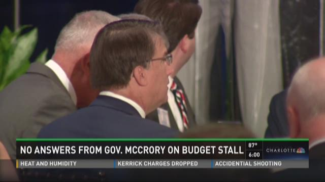No answers from Gov. McCrory on budget stall