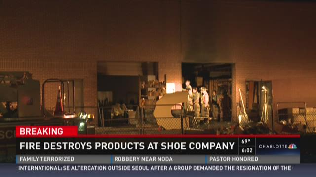 Fire destroys products at show company