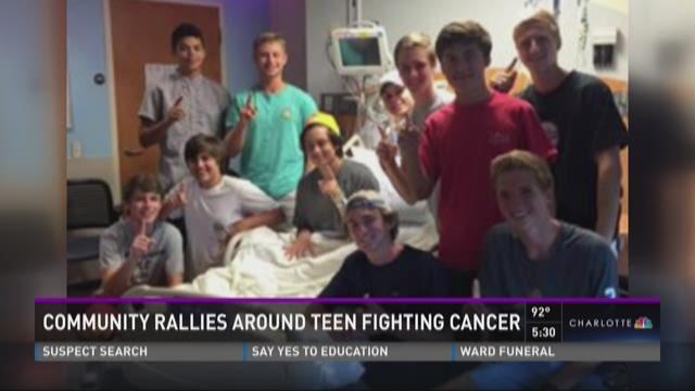 Community rallies around teen fighting cancer