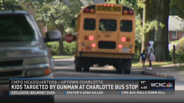 Kids targeted by gunman at Charlotte bus stop