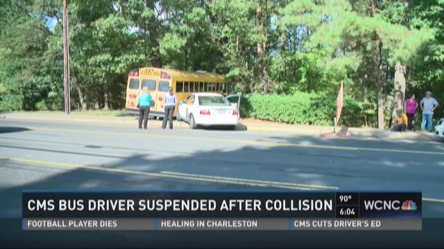CMS bus driver suspended after collision