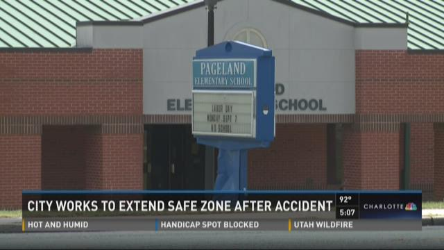 City works to extend safe zone after accident