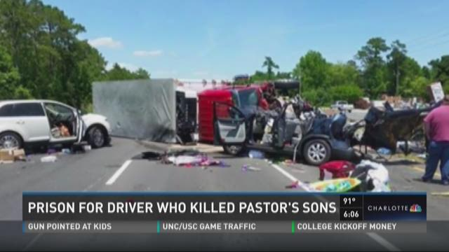 Driver who killed pastor's sons gets prison