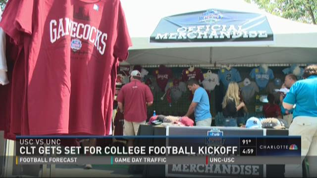 Charlotte gets set for college football kickoff