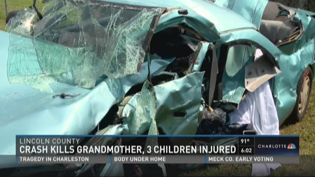 Crash kills grandmother, 3 children injured