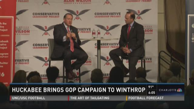 Huckabee brings GOP campaign to Winthrop