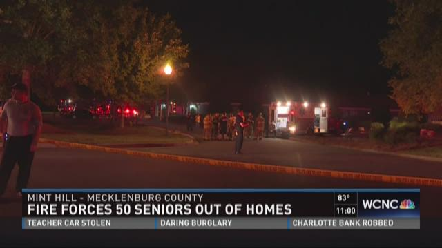Fire forces 50 seniors out of homes