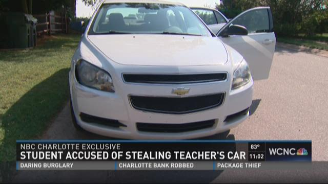 Student accused of stealing teacher's car