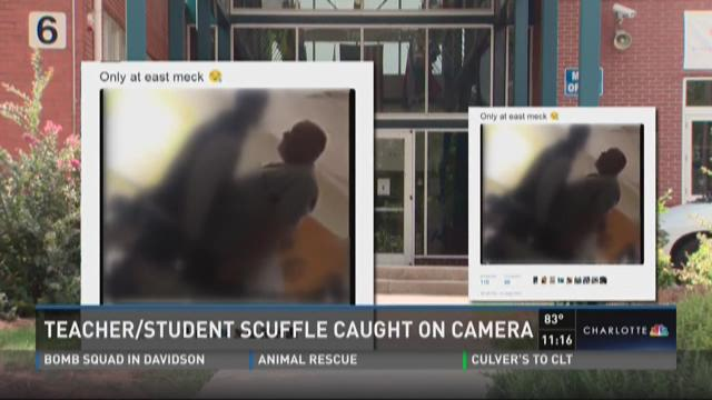 Teacher, student scuffle caught on camera