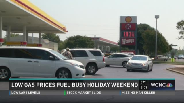 Low gas prices fuel busy holiday weekend