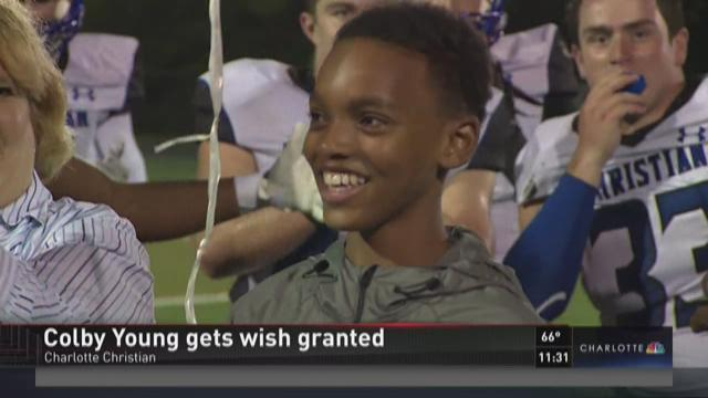 Colby Young gets wish granted