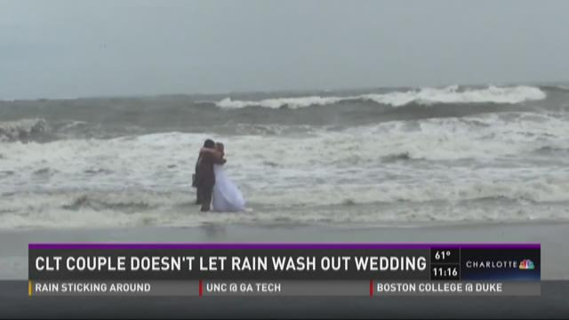 Charlotte couple doesn't let rain wash out wedding