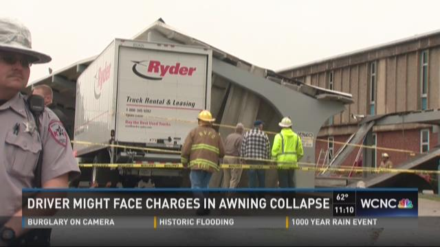 Driver may face charges in awning collapse
