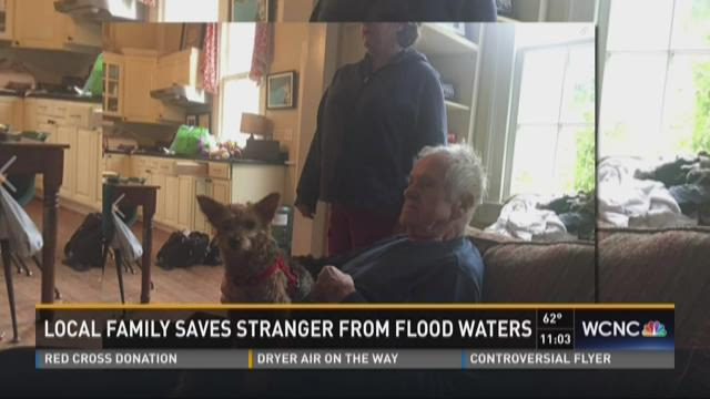 Local family saves stranger from flood waters