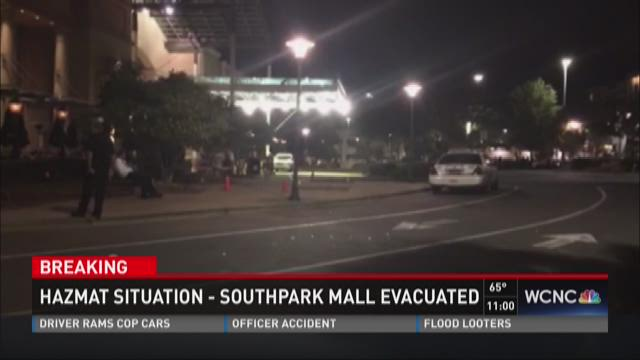 Employees evacuated from SouthPark Mall
