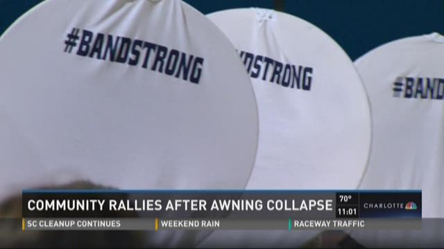 Community rallies after awning collapse