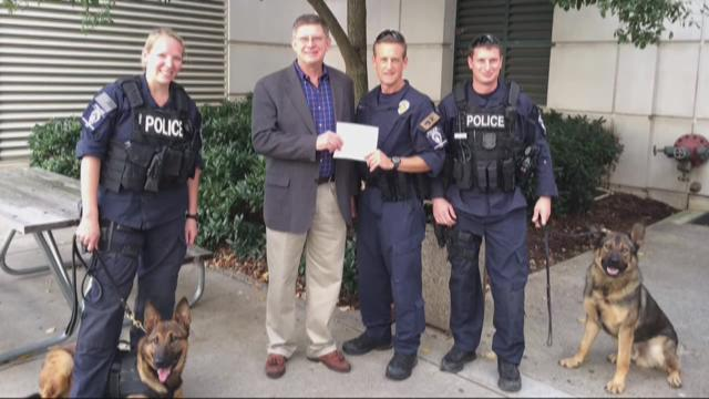 Local group donates vests for CMPD K9 unit
