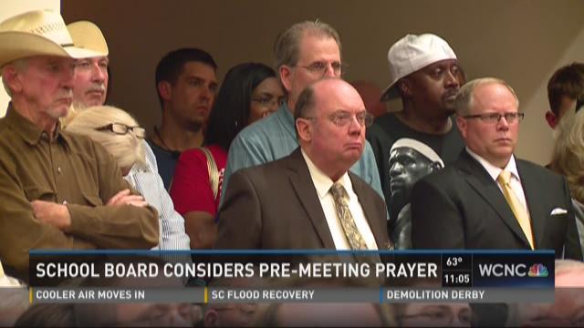 School board considers pre-meeting prayer