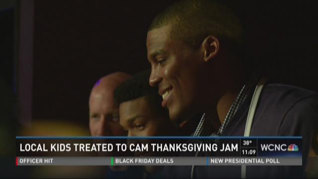 68bec30d Local kids treated to Cam Thanksgiving jam